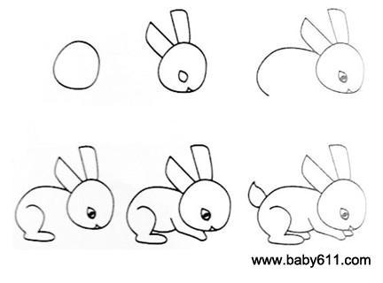 幼儿简笔画 兔子
