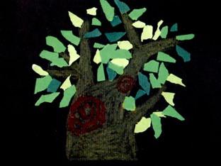幼儿园小班手工纸艺活动:茂密的大树图片