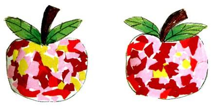 幼儿园小班手工纸艺活动:大苹果