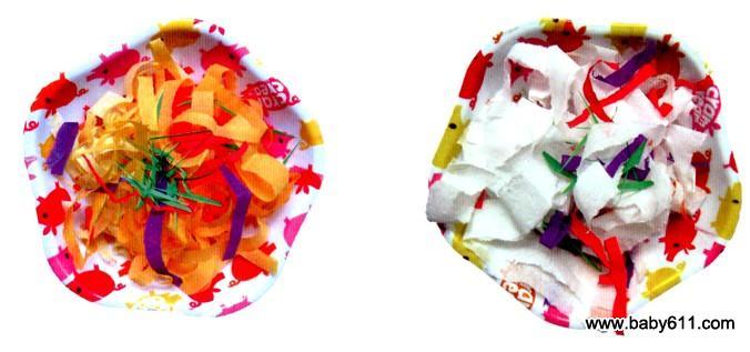 幼儿园中班手工纸艺活动 一盘香喷喷的炒面