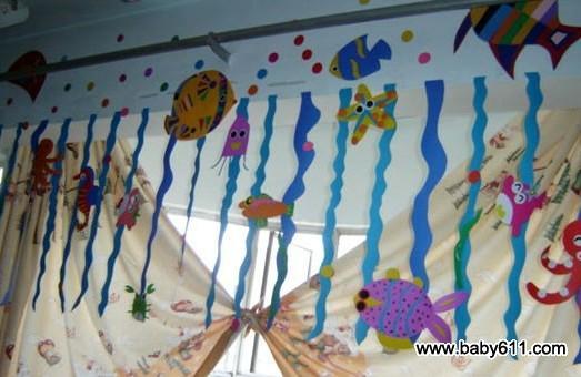 幼儿园吊饰图片:海底世界 - 幼儿园环境布置图片