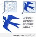 幼sxda园sxda童手工剪纸:小燕子