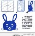 幼sxda园sxda童手工剪纸:小兔子
