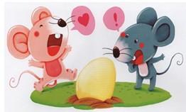 幼儿园小班看图讲述活动《小老鼠运鸡蛋》图片