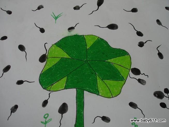 幼儿园小班绘画作品:小蝌蚪