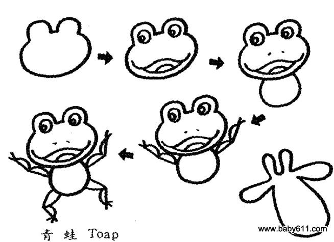 幼儿简笔画 青蛙