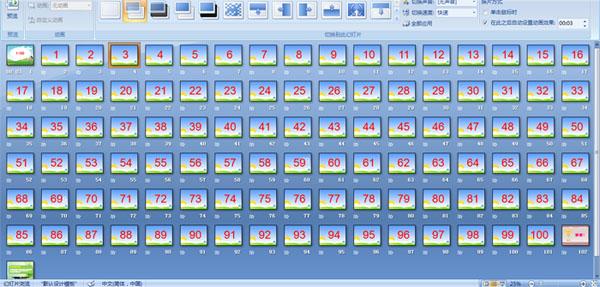 幼儿园数学多媒体课件:数字1-100