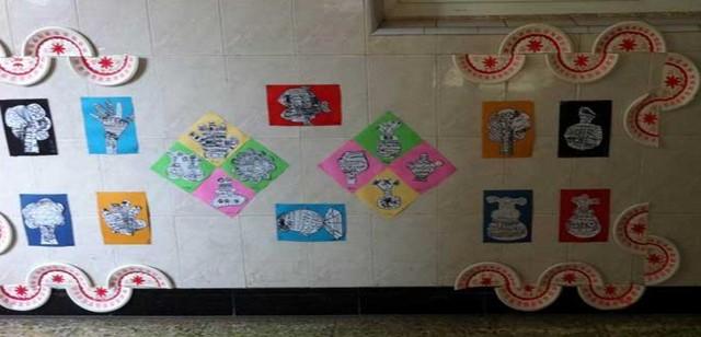 幼儿园走廊楼梯环境图