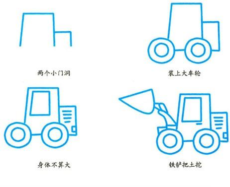 幼儿简笔画:铲车 - 简笔画