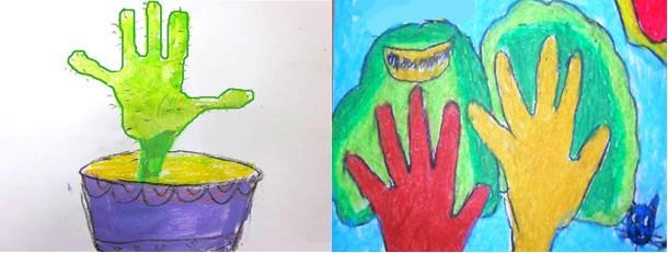 幼儿园中班美术教案:小手变变变图片
