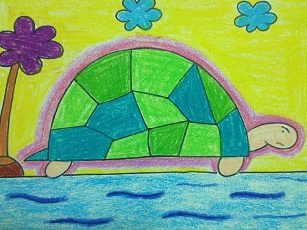 幼儿绘画作品:乌龟