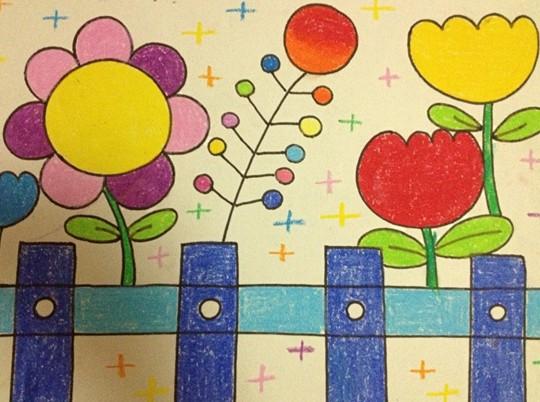 幼儿美术绘画作品:花朵