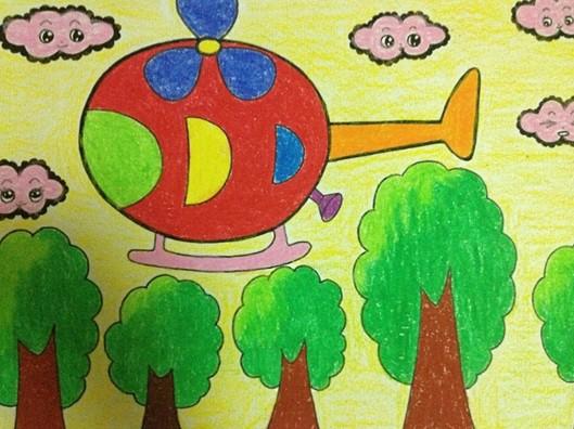 幼儿美术:直升飞机 - 绘画作品