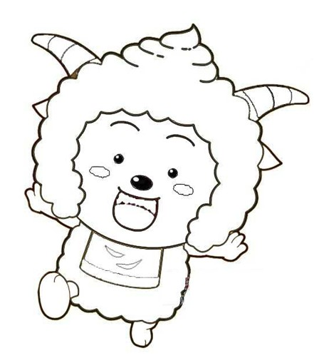 幼儿涂色简笔画:懒洋洋(2)