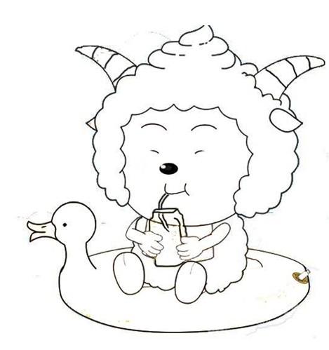 幼儿涂色简笔画:懒洋洋(5)