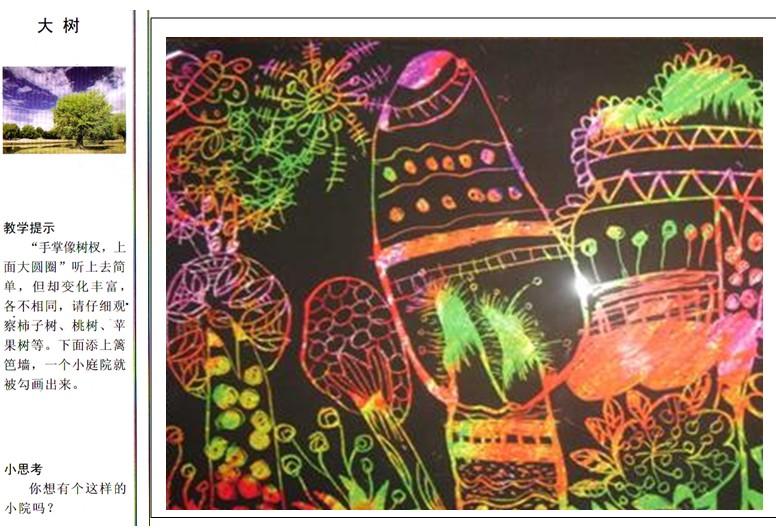 幼儿园中班创意美术:大树图片