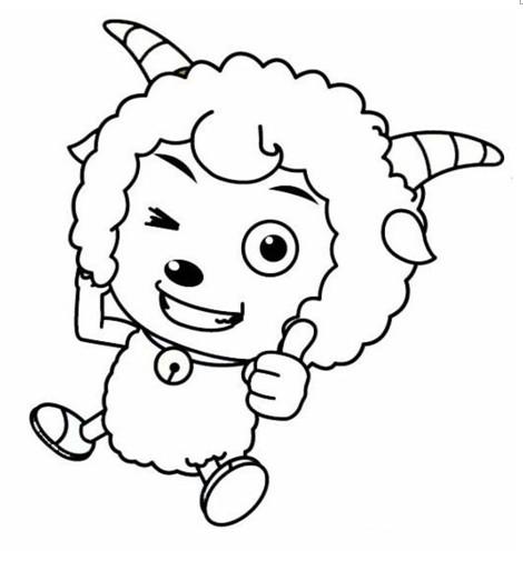 幼儿简笔画涂色卡喜羊羊