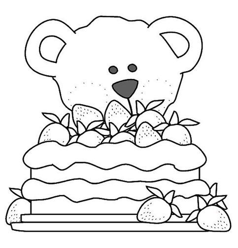 幼儿涂色卡:小熊