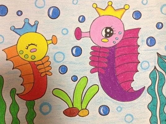 幼儿美术:海底 - 绘画作品