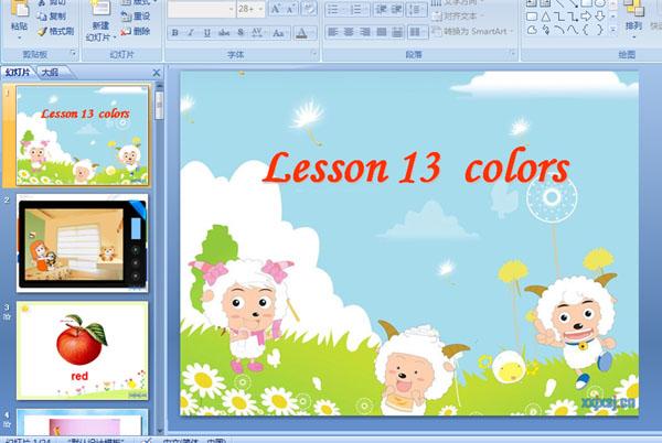 幼儿园英语活动ppt课件:颜色