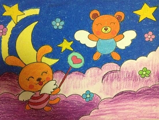 儿童画可爱的小熊图片展示下载;