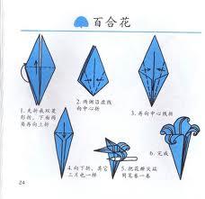 幼儿手工折纸:百合图片