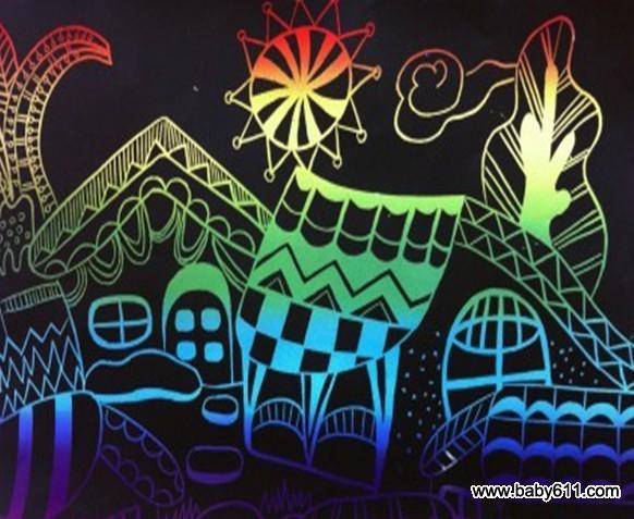 幼儿园中班创意美术:乡村风情