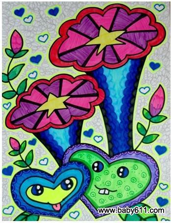 妈咪爱婴网首页 幼儿园教案大全 幼儿园中班教案 创意美术  绽放的图片