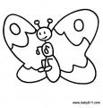 幼儿涂色简笔画:蝴蝶