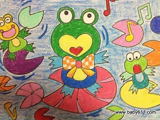 儿童绘画作品:小青蛙