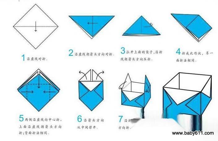 幼儿折纸教程 盒子