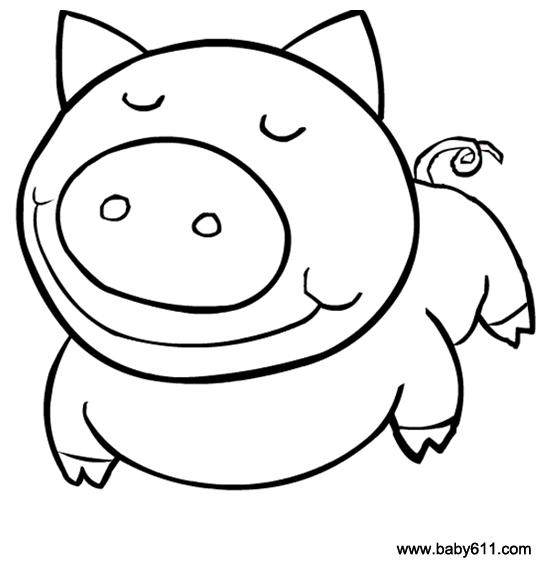 幼儿简笔画:猪