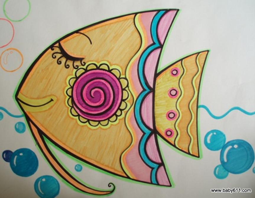 妈咪爱婴网首页 幼儿园教案大全 幼儿园手工技能教案 绘画作品  美丽