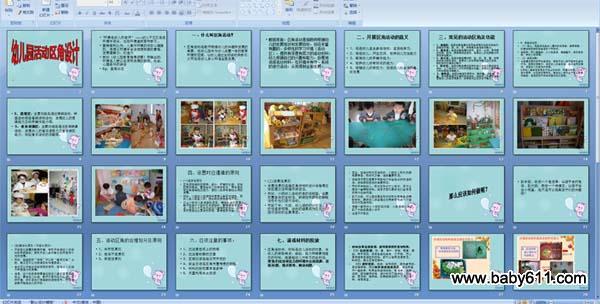 幼儿园简笔画ppt课件 幼儿园区域活动的开展