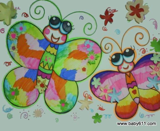 幼儿园简笔画作品 蝴蝶4