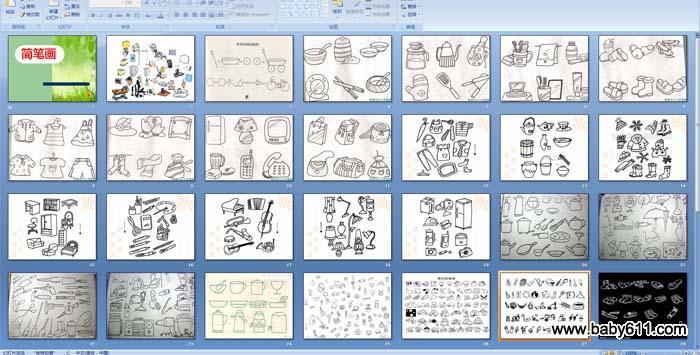 幼儿园幼儿简笔画《生活用品》