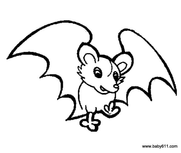 儿童简笔画:蝙蝠