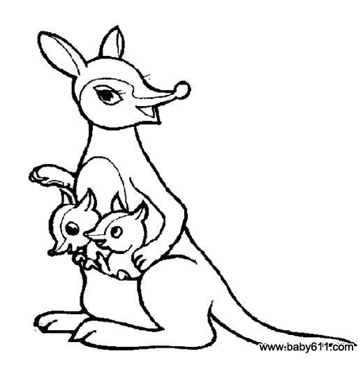 儿童简笔画:袋鼠妈妈