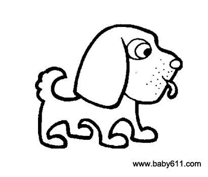 儿童简笔画 调皮的小狗