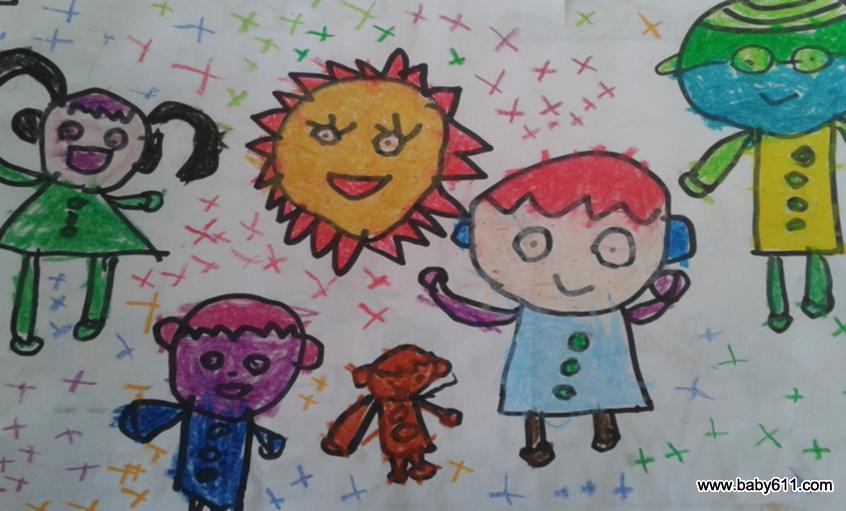 中班幼儿美术作品:晒太阳