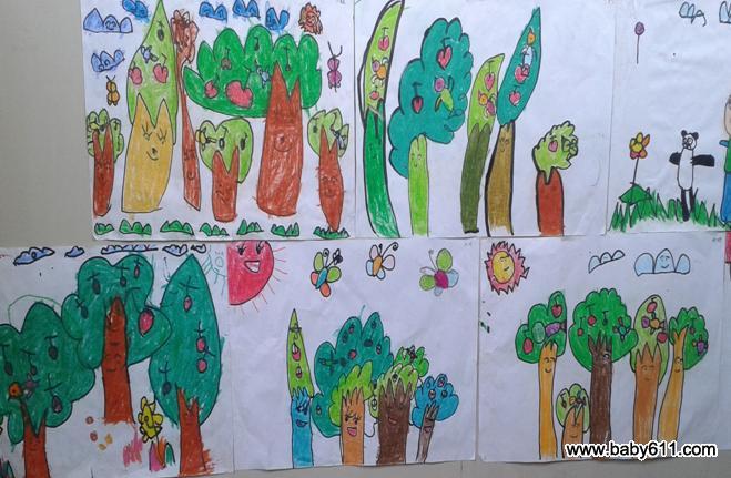 幼儿园大班绘画作品:大海