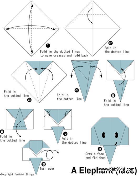 儿童手工折纸 - 幼儿园儿童手工折纸图片