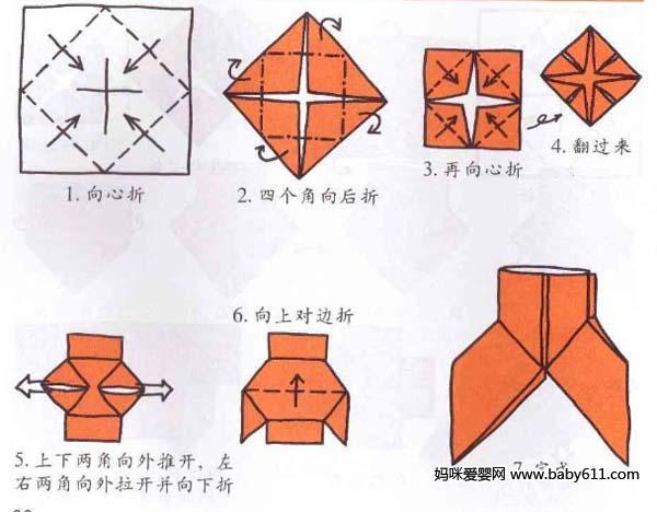 幼儿园儿童手工折纸 衣服裤子图片