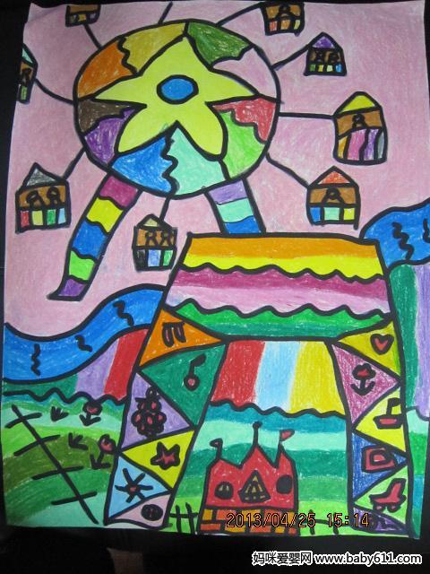 幼儿园教案大全 幼儿园手工技能教案 绘画作品  幼儿园大班绘画作品图片
