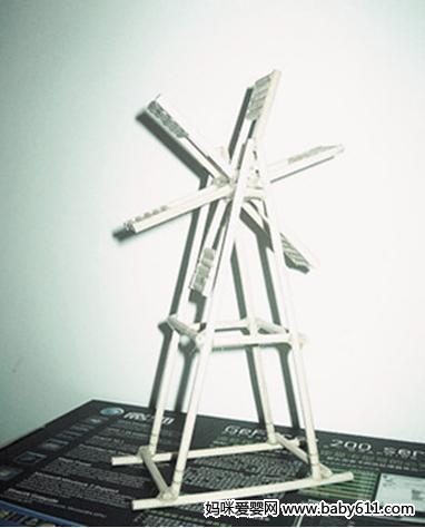 废旧制作:一次性筷子制作水车