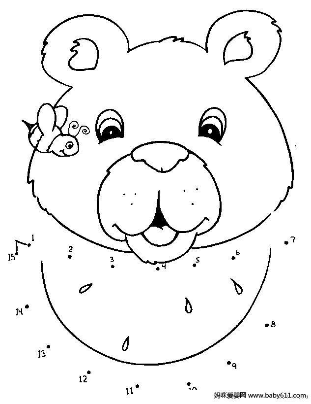 数字连线:小熊图片