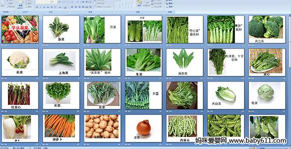 幼儿园小班科学——学认蔬菜(多媒体课件)