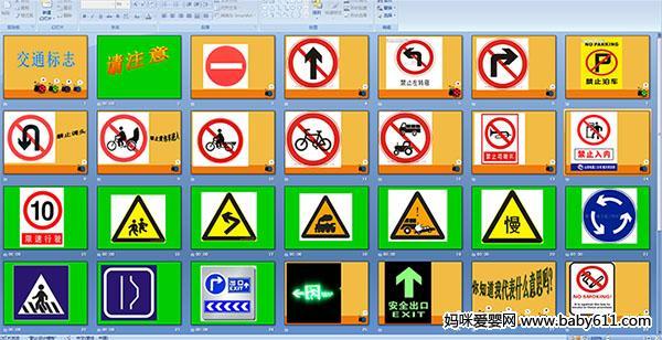 幼儿园中班安全课件:交通标志