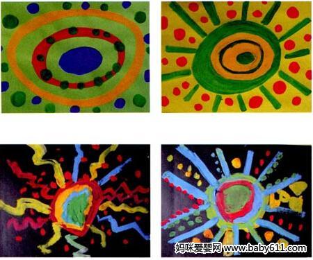 幼儿园小班画画教案设计:百变太阳
