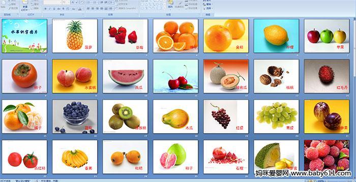 动态课件ppt模板水果